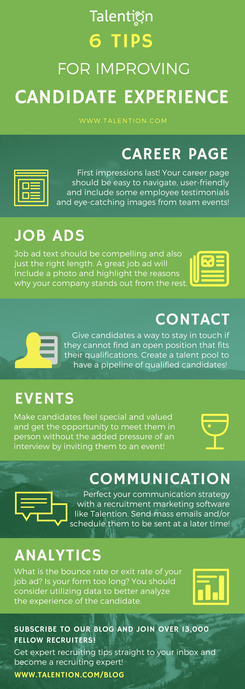 Infographic: 6 Tips Candidate Experience