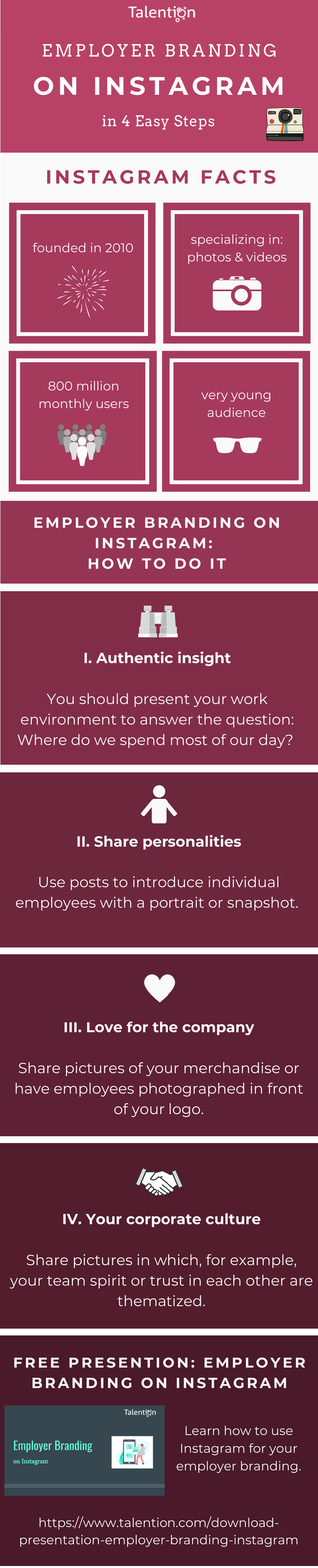 Infographic Employer Branding on Instagram (EN)