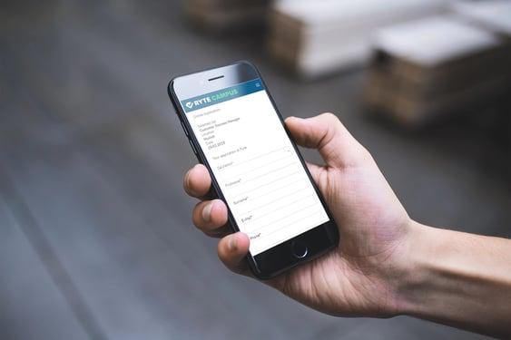 Mobile Job Application Ryte