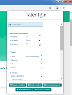Sourcing Tool Talention Software