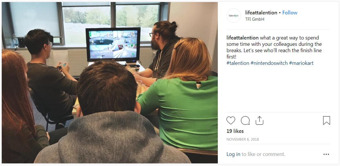Talention Instagram Employer Branding