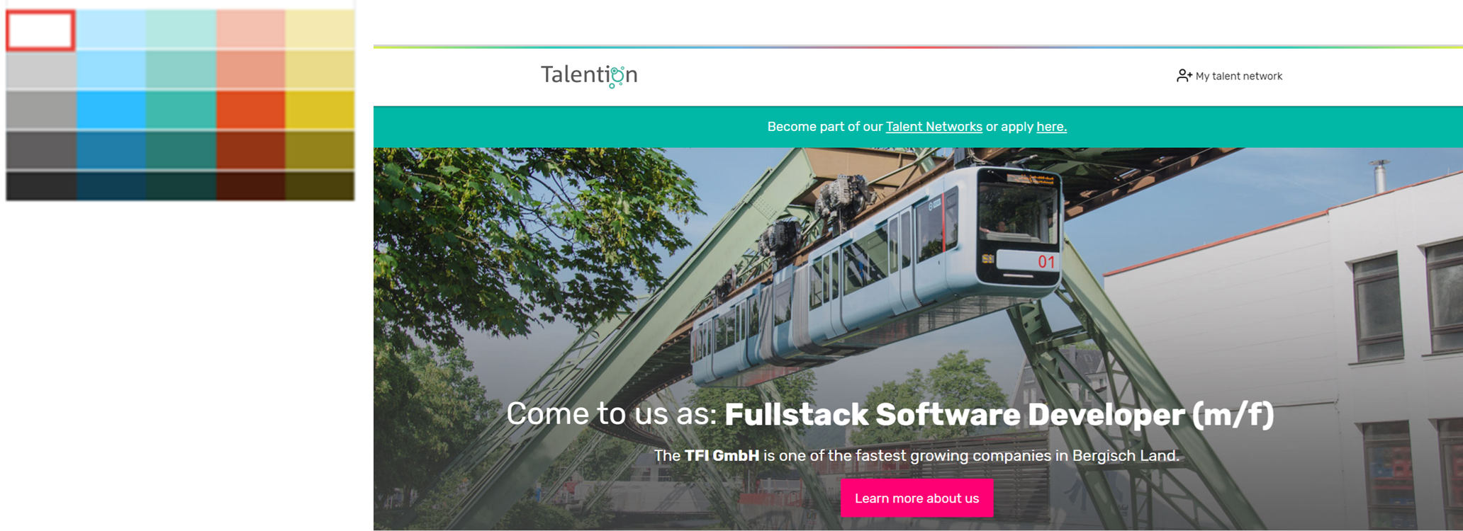 Talention talent network color choice 2