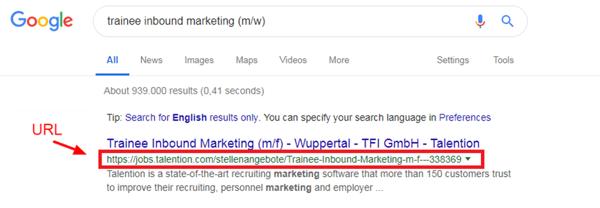 Job Ad URL SEO