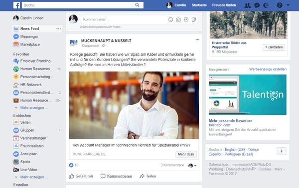Social Recruiting: How Do Facebook Ads Succeed?