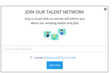 Talent pool pop-up talention software