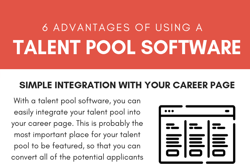 6 Advantages of Using a Talent Pool Software (Infographic)