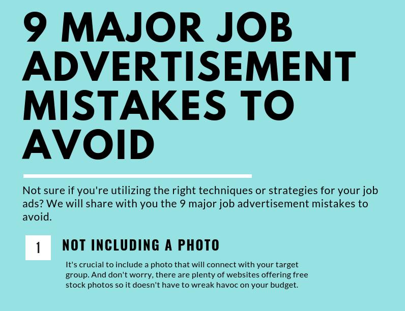 9 Major Job Advertisement Mistakes to Avoid (Infographic)
