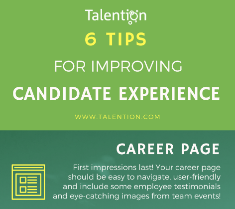 6 Tips for Improving Candidate Experience (Infographic)