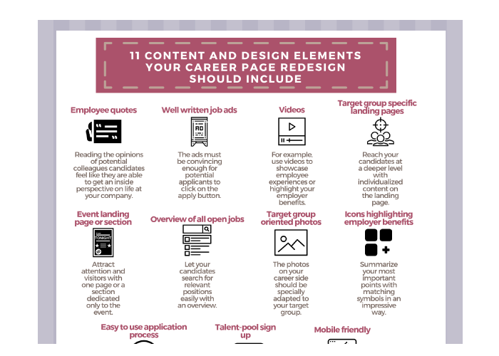 Poster 11 Content & Design Elements Your Career Page Redesign Should Include