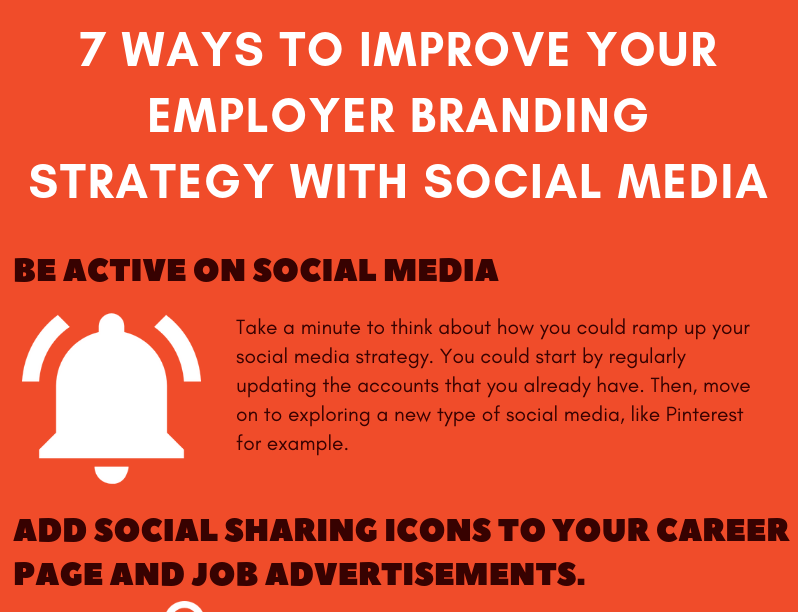 Infographic: 7 Ways to Improve your Employer Branding Strategy with Social Media