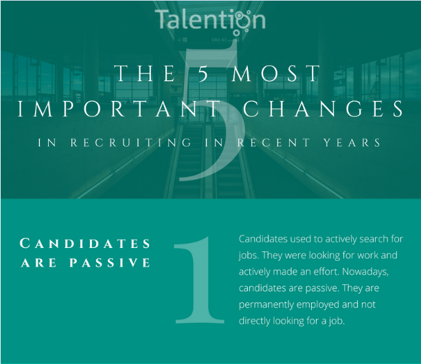 Infographic:The 5 Most Important Changes in Recruiting in Recent Years