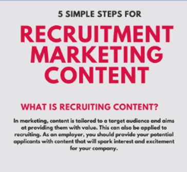 5 Simple Steps for Recruitment Marketing Content (Infographic)