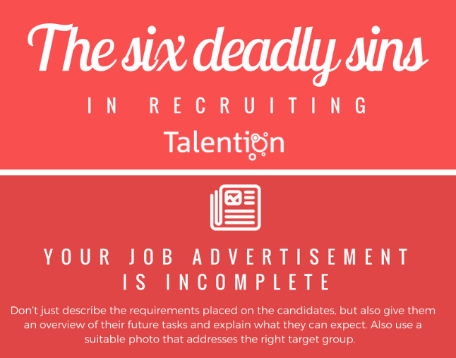 The Six Deadly Sins in Recruiting (Infographic)