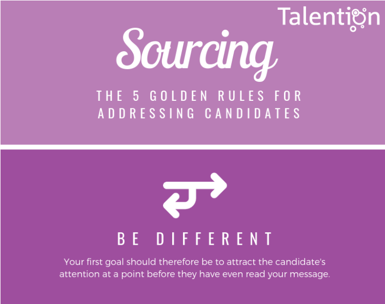 Infographic: Sourcing - The 5 Golden Rules for Addressing Candidates