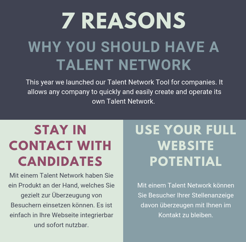 7 Reasons Why You Should Have a Talent Network (Infographic)